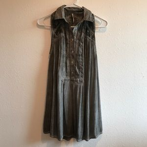 Free people gray sleeveless tunic Xs